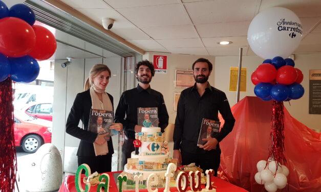 L'opera all'anniversario Carrefour