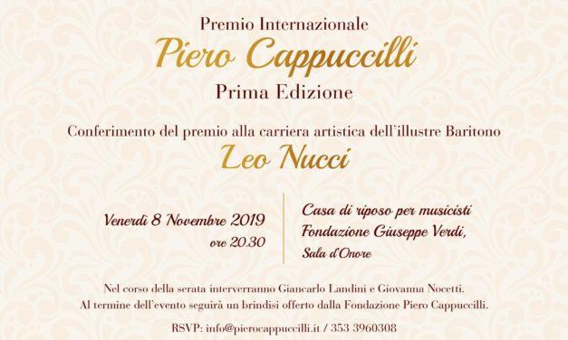 A Leo Nucci il Premio Internazionale Piero Cappuccilli – Prima Edizione